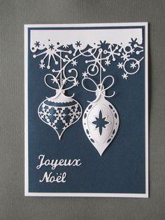 carte de Noël avec Memory Box die Jasper Ornament Background Die, Memory Box Die…