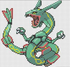 Gyarados, from pokemon. (All rights belong to nintendo) Please visit my group, for more grids and pixel artwork like this!