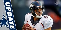Within an hour, quarterback Mark Sanchez went from a final cut on the Denver roster to signing a one-year deal with the Cowboys. Denver Broncos Memes, Mark Sanchez, Cowboys, Football Helmets, Dallas, Sports, Hs Sports, Sport