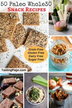 50 Paleo Whole30 Snack Recipes - grab a healthy bite that's also gluten free, grain free, sugar free, dairy free and with vegan options | TastingPage.com #Paleo #Whole30 #healthysnacks #snack #glutenfree #dairyfree