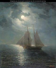 A moonlit sail - Ivan Konstantinovich Aivazovsky