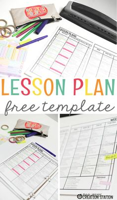 Use this free editable lesson plan template for your preschool, prek, kindergarten or first grade lesson plans. Editable, printable lesson plans make your teaching journey just a tad bit easier! #teachingresources #lessonplans #printablelessonplans #teachinghelp #printables #mrsjonescreationstation
