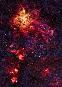 Nebulosa Tarântula na grande nuvem Magalhães.