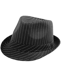 Pinstriped Fedora Hat for Women