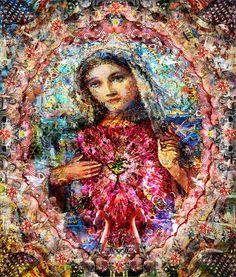 The Virgin Mary Fine Art Print- Simon Currell