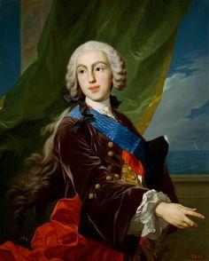 "Louis-Michel VAN LOO, ""Retrato de Don Filippo I di Borbone Farnese, Infante de España, Duque de Parma, Piacenza e Guastalla (1720-1765)""; óleo sobre lienzo, 1739-1742."