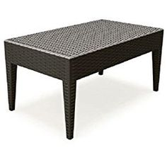 Compamia ISP855-BR Miami Rectangle Resin Coffee Table – Brown