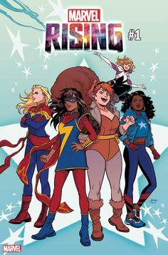 Marvel Rising - (Cover A) ~ Single Comic ~ Nilah Magruder Logo Marvel, Ms Marvel Captain Marvel, Marvel Comics Art, Marvel Comic Books, Disney Marvel, Marvel Heroes, Marvel Women, Marvel Girls, Gi Joe