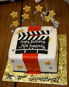 Hollywood Cake, would be adorable for my acting teacher!
