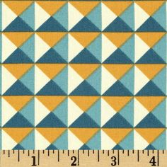 Art Gallery Splendor 1920 Nouveau Geo Blue from @fabricdotcom  Designed by Bari J. Ackerman for Art Gallery, this cotton print fabric is perfect for quilting, apparel and home decor accents. Art Gallery Fabric features 200 thread count of finely woven cotton. Colors include gold, dusty teal, navy and cream.