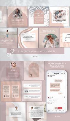Branding Kit, Branding Design, Instagram Design, Instagram Posts, E Design, Graphic Design, Instagram Post Template, Blogger Templates, Social Media Design