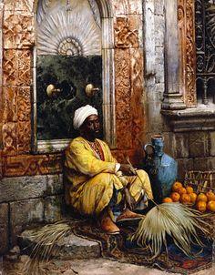 Ludwig Deutsch - Der Orange Verkäufer, Kairo 1882
