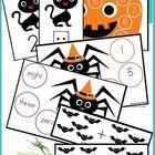 Kindergarten Halloween Activity  Halloween Activity  Halloween  Numbers  Kindergarten Math  Basic Operations  Math Center  Printable  Printable Math Game  Teachers Resources