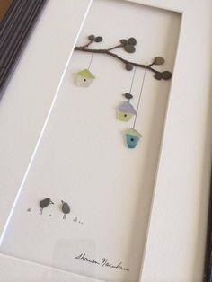 Pebble Art of Nova Scotia (Sharon Nowlan) - with seaglass