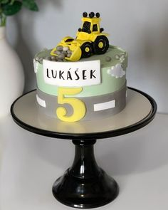 Excavator Cake, Modeling Paste, Table Lamp, Baking, Desserts, Instagram, Food, Decor, Digger Cake