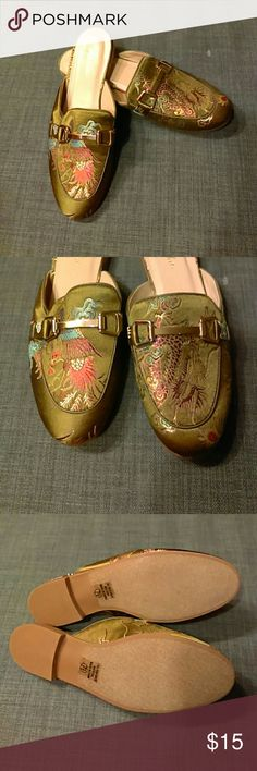 db926539fc Mules with an oriental touch Colorful slip on