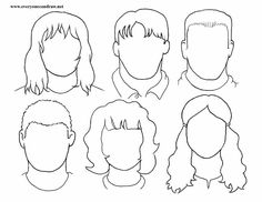 PORTRAIT DRAWINGS step by step instructions plus various eyes, noses, mouths. Cartooning ideas, too.   Look for all their Printable sheets!  What a great site!!!!