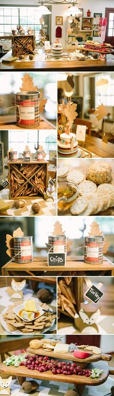 Fox Themed Baby Shower for the Fall Season (ideas could also be used for a woodsy, forest theme)
