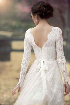 Dress w/ Sleeves - I love this one, especially the back, and I'm really sure about the ribbon.