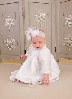 Madison Christening Coat | Baptism Jacket for Baby Girls
