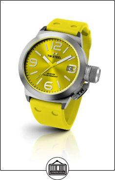 TW Steel TW520 Canteen Fashion - Reloj unisex de cuarzo, correa de silicona color amarillo  ✿ Relojes para mujer - (Gama media/alta) ✿