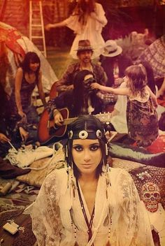 woodstock 1969 - love this gal's headband