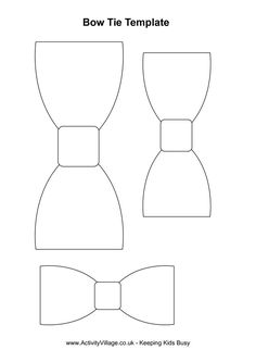 template for paper bow tie - Google Search