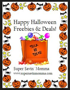 HAPPY HALLOWEEN $$ Freebies & Deals!