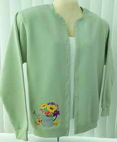 Unique, innovative handcrafted ladies button front sweatshirt jackets. The quality and style of a one-of-a-kind boutique sweater.