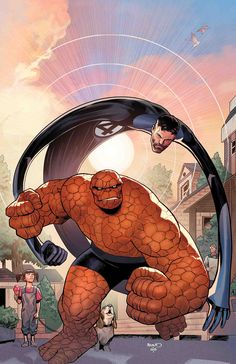Marvel Two on One The Thing and Mister Fantastic New Comic Book Art! Marvel Comics Art, Marvel Comic Books, Comic Book Characters, Marvel Characters, Marvel Heroes, Comic Character, Comic Books Art, Comic Art, Book Art