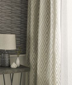 Maya made to measure curtains in ochre from Style Studio. Neutral home decor ideas. Modern looks for windows. Grey Patterned Curtains, Neutral Curtains, Gold Curtains, Blinds Curtains, Roman Curtains, Roman Blinds, Lounge Curtains, Dining Room Curtains, Curtains Living