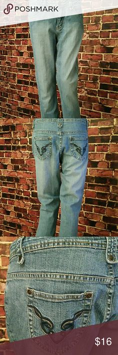 Ruff Hewn Jeans Ruff Hewn Jeans. 99% cotton, 1% spandex. Waist: 32 inches, Thigh: 11 inches, Hips: 20.5 inches, Rise: 12.5 inches, Inseam: 31 inches, Outseam: 41 inches, Leg Opening: 8 inches. **Seller's Discount: 20% off 2 or more items.**[B36] Ruff Hewn  Jeans Straight Leg
