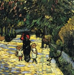 Vicent van Gogh |  Avenue with flowering chestnut trees at Arles  (detail), 1889