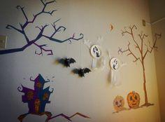マスキングテープ,壁アート,ハロウィンパーティー,halloween party,washi tape,craft,