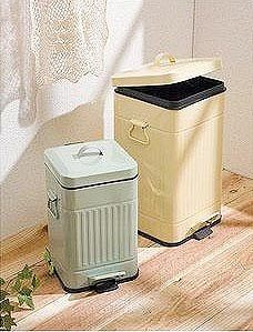 Small Bathroom Garbage Cans half-weave contrast side trash can #urbanoutfitters | #uohome