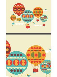 Simple, geometric, vintage colors. By Dan Stiles.