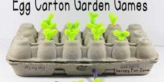 Recycled Egg Carton Garden Games