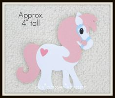My Little Pony or Horse Paper Piecing Embellishment