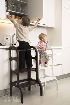 Learning tower, step stool for toddler which can be easily transformed to table and chair.