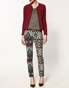 Love the print on these pants but wonder if they'd get me fired.