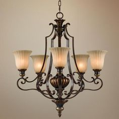 """Feiss Kelham Hall Collection 27"""" Wide 5-Light Chandelier -"""