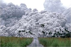 This is a photo of the eruption of Mount Pinatubo on the 15th of June 1991. It is an active stratovolcano located on the island of Luzon, near the tripoint of the Philippine provinces of Zambales, Tarlac, and Pampanga.