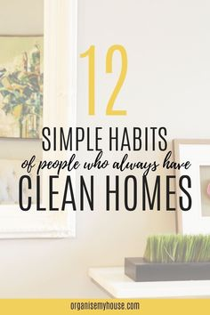 Simple habits that people with a clean home do every day. Learn the secrets to a clean home - the easy way!. These are habits that will change you home life today! House Cleaning Tips, Cleaning Hacks, Household Chores, Good Habits, Homemaking, Declutter, Housekeeping, Clean House, Make It Simple