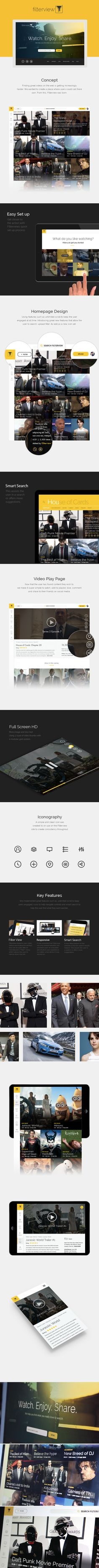 ui, ux, flat, application, grid, list, icon, icons, button, navigation, interface, responsive, desktop, app, web, website, simple, clean, dashboard, iPhone, minimal, concept, redesign, app, stream, innovation, broadcast, tv, content, storytelling, engagement, viewers, house of cards, netflix, presto,