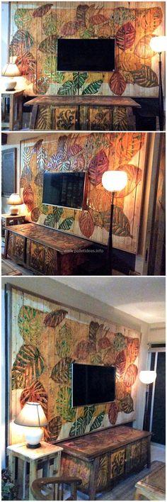 pallets artistic wall art