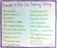 Higher order thinking prompts