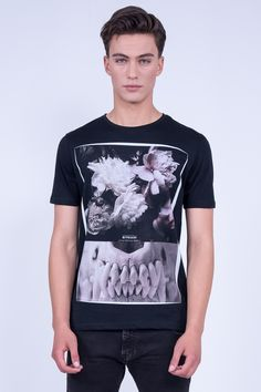 "Regular Fit T-Shirt In ""Skull"" Print"