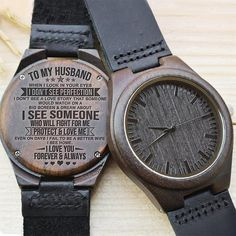 Engraved Wooden Watch For Dad - Great Gifts For Father Valentine Gifts For Husband, Gifts For Fiance, Great Gifts For Dad, Perfect Gift For Dad, Love Gifts, Gifts For Father, Unique Gifts, Creative Gifts, Thoughtful Gifts For Him
