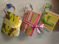 Cute DIY post-it key chain, video tutorial ~ Scrappily Ever After.com  - great teachers gift