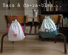 Sacs à goûter, sacs à piscine, sacs à-dos-rables pour la rentrée ! Idéal pour la crèche ou la maternelle ! Et c'est chez Little Crevette ! #sac #gouter #piscine #rentree #classe #original